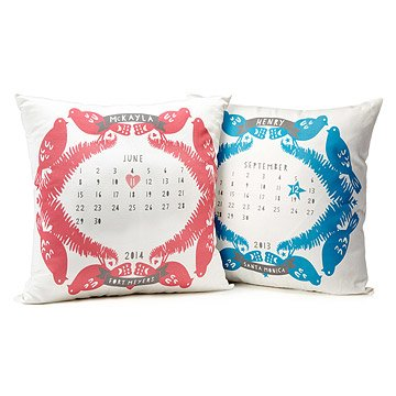 Personalized Baby Birthday Pillows