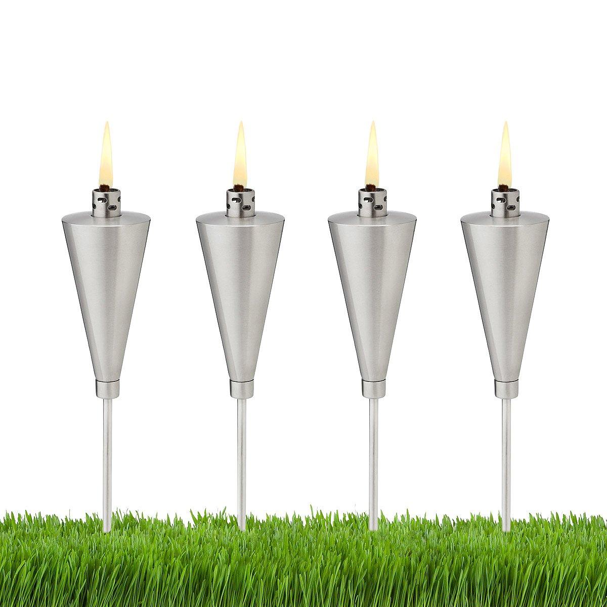 mini garden torches set of 4 garden lighting oil lamp
