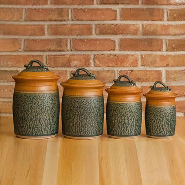 Stoneware Canister Set 2