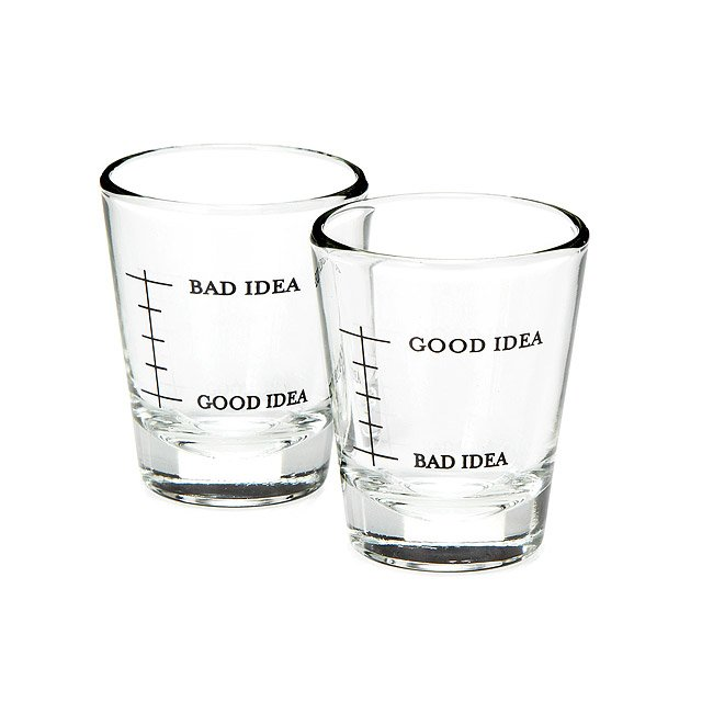 Bad Idea/Good Idea Shot Glasses - Set of 2
