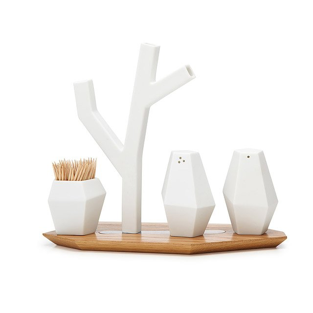 Tree Vase Salt and Pepper Shaker Tray 2
