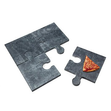 Puzzle Pizza Stone with Peel