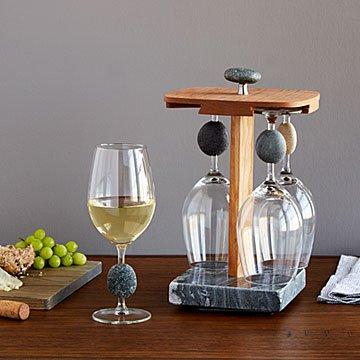 Stone Wine Glass Pirouette Set