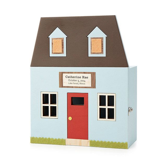 Personalized Cottage Baby Keepsake Box