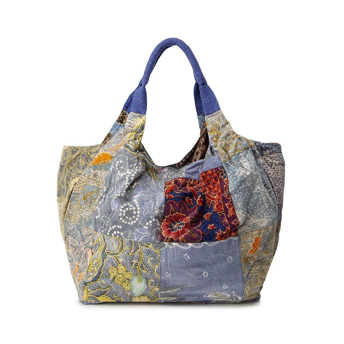 Fair Trade Tote Bag, Handmade Indonesian Batik Bag