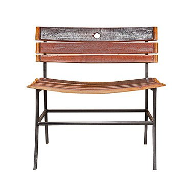 Recycled Wine Barrel Bench