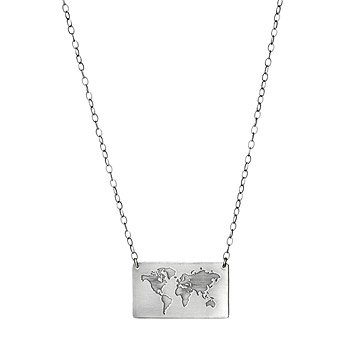 World Map Pendant