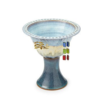 Tall Pedestal Jewelry Bowl