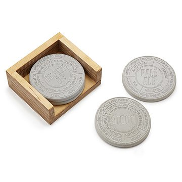 Concrete Beer Coaster Set