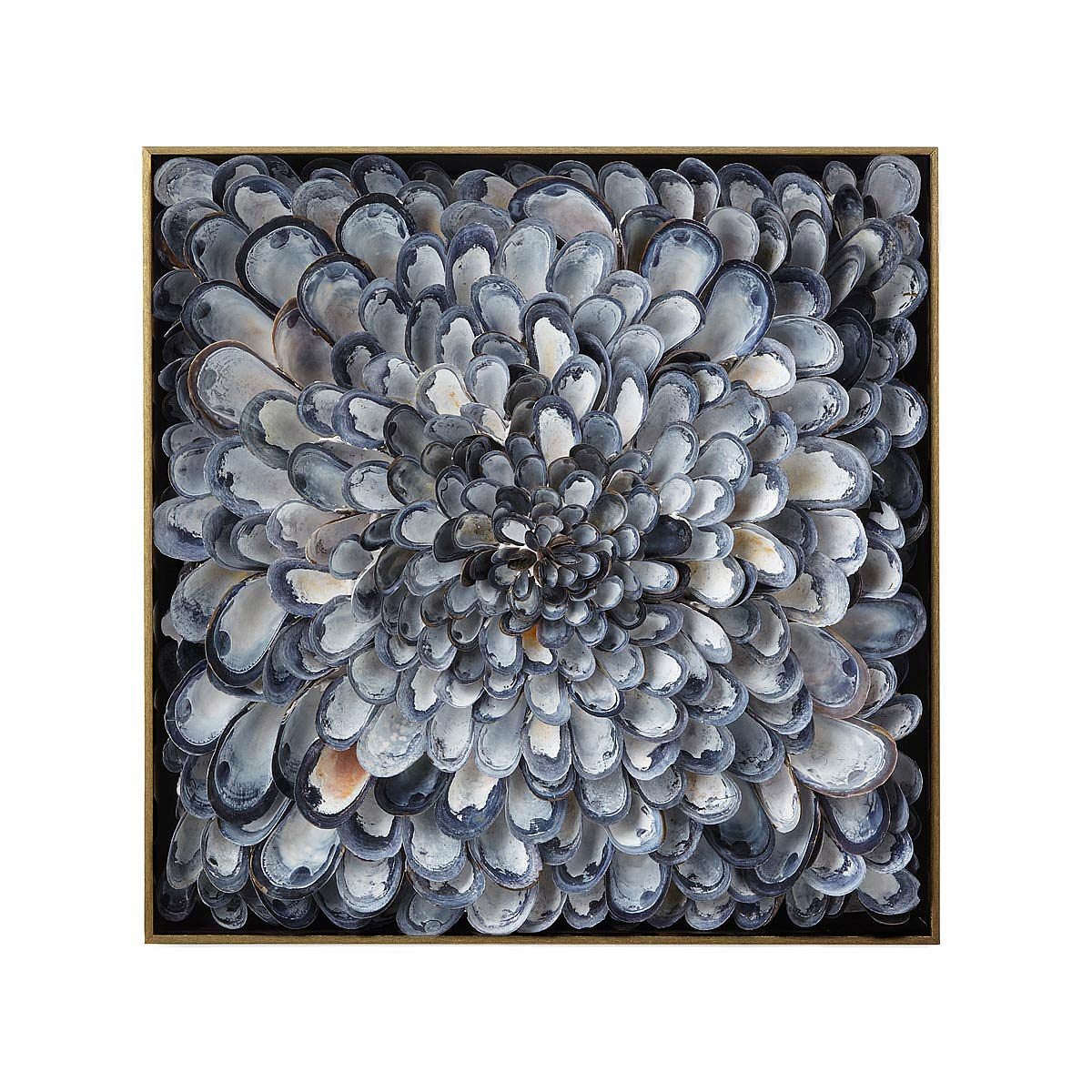 Infinite Mussels Wall Sculpture | shell art | UncommonGoods