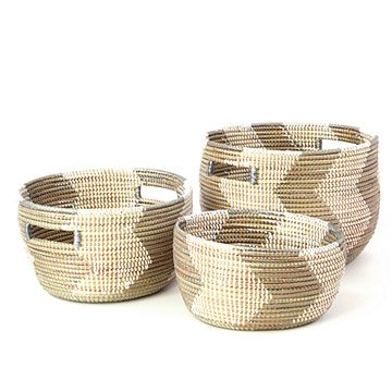 Handmade Nesting Baskets - Set of 3