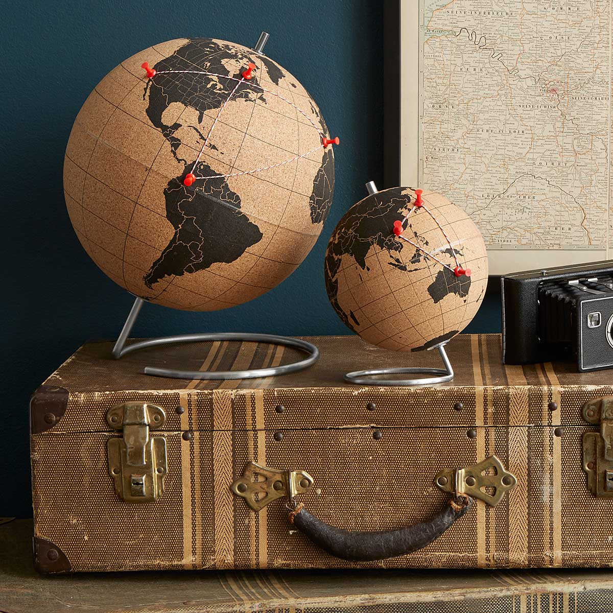Cork Globe | travel, interactive globe