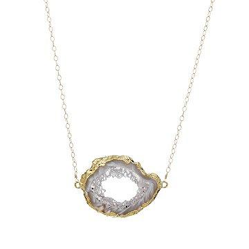 Golden Open Agate Necklace
