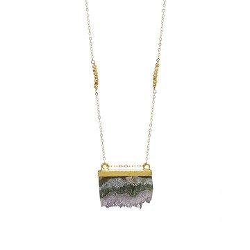 Golden Slice Agate Necklace