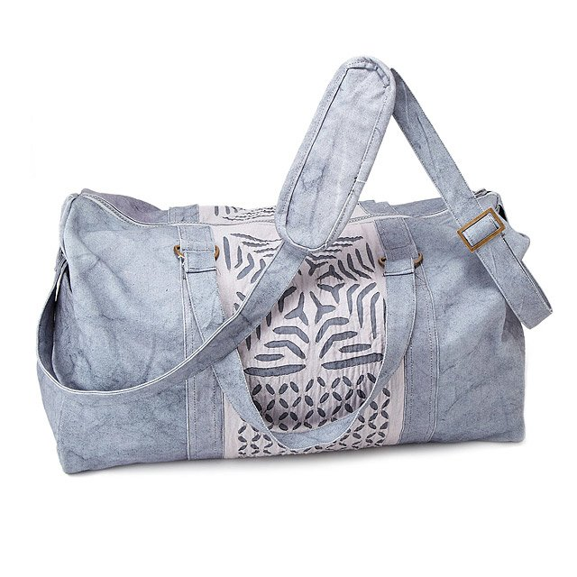 Reverse Applique Stonewashed Duffle | cotton bags, applique ...
