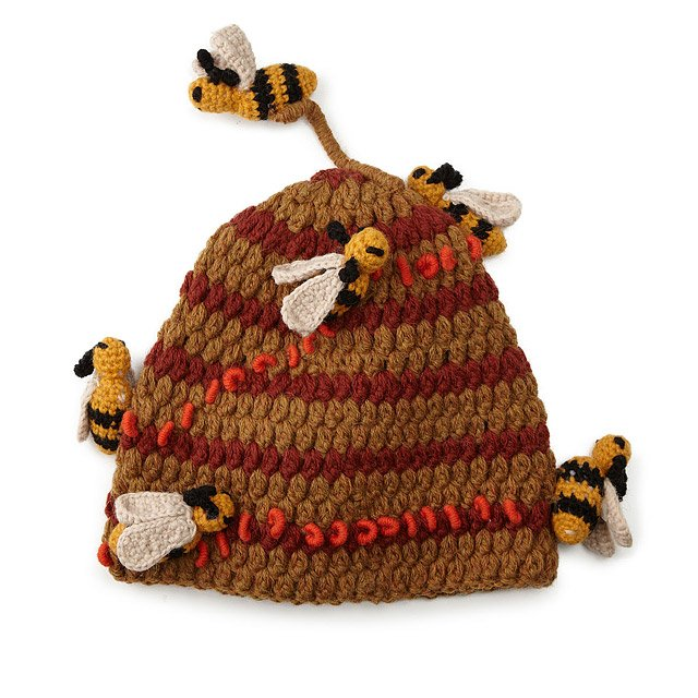 Hand Crocheted Bee Hive Hat