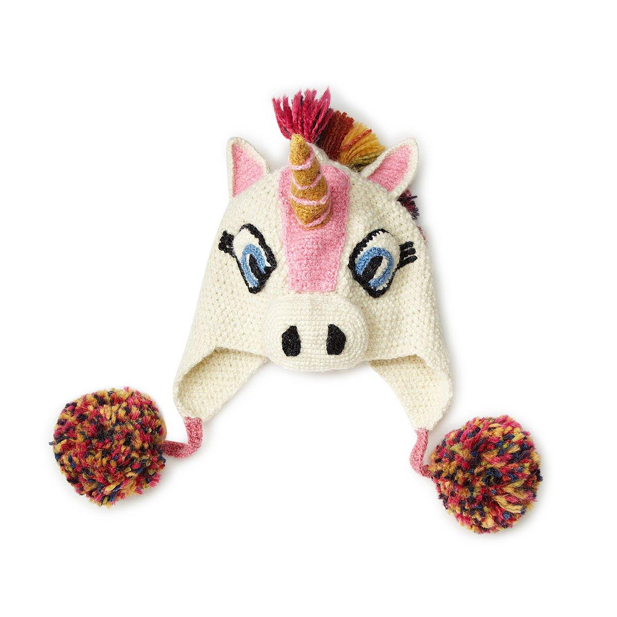 Crochet Unicorn Hat : Hand Crocheted Unicorn Hat Winter Hat With Ear Flaps UncommonGoods