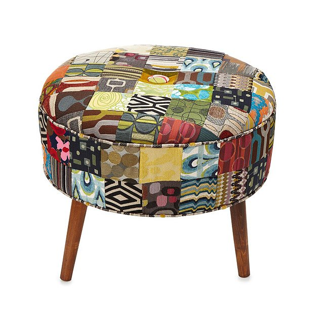 Reclaimed Patchwork Ottoman 2