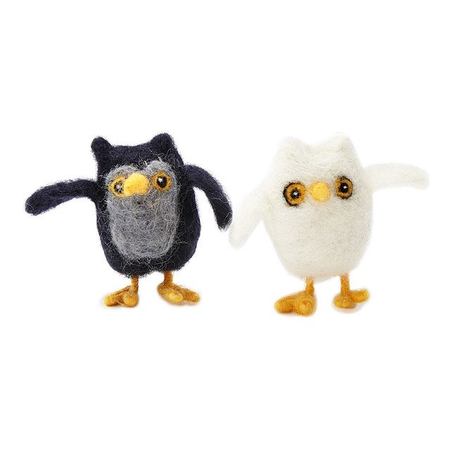 Owl Needle Felting Kit