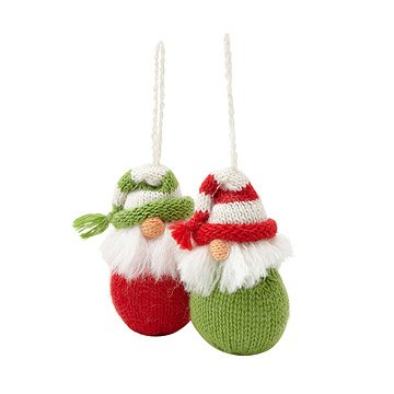 Brushed Beard Gnome Ornaments