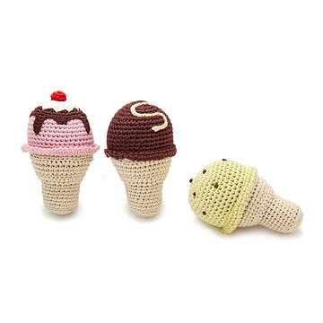 Ice Cream Rattles - Set of 3