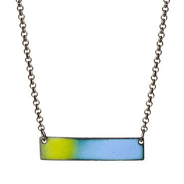 Horizontal Enamel Necklace