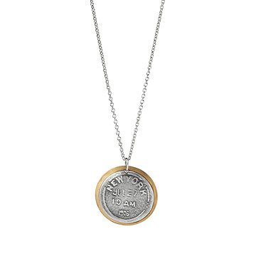 Vintage Postmark Memento Necklace