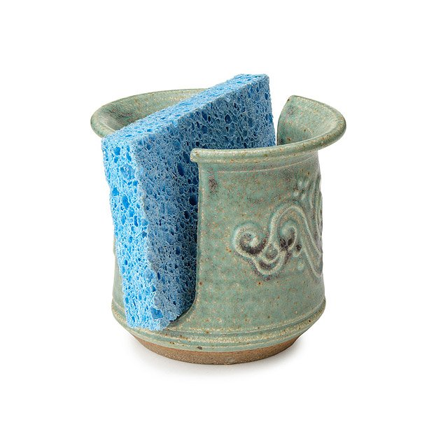 Stoneware Swirl Sponge Holder