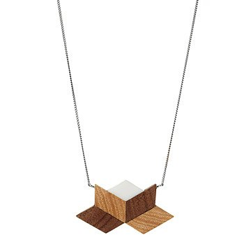 Salvaged Furniture Wood Lotus Necklace