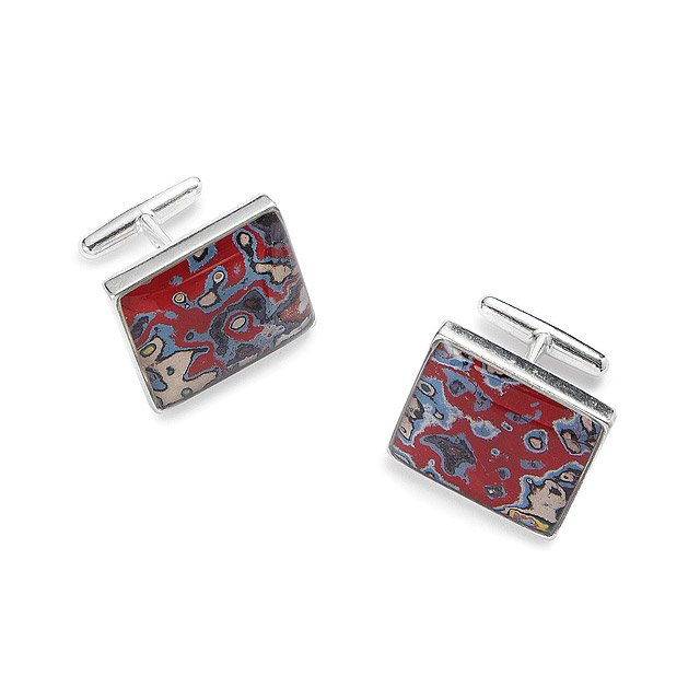 Sterling Graffiti Cufflinks