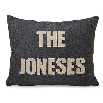 Custom Family Name and Date Pillow