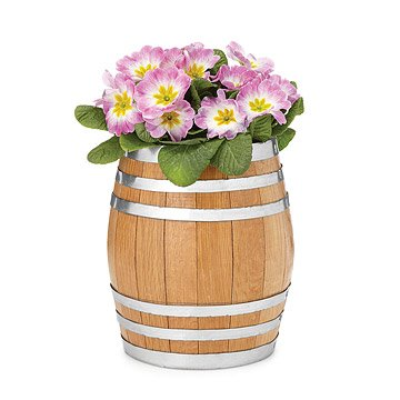 Reclaimed Whiskey Barrel Planter