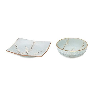 Spring Blossom Plate and Bowl