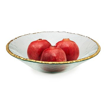 Gold Rimmed Serving Bowl