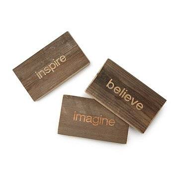 Reclaimed Wood Mantra Blocks