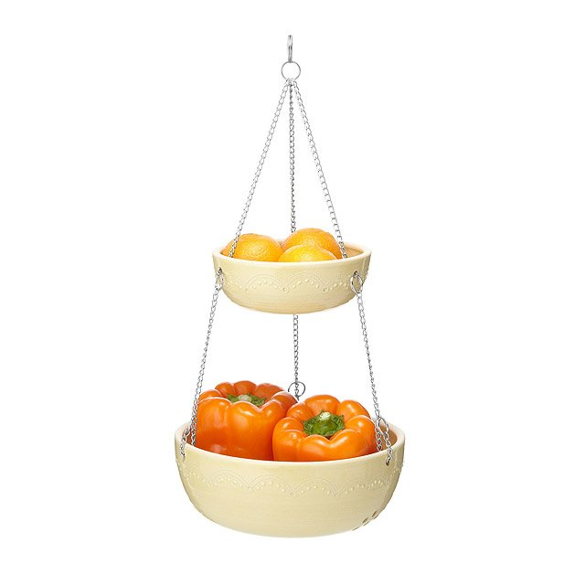 Stoneware 2 Tiered Hanging Baskets