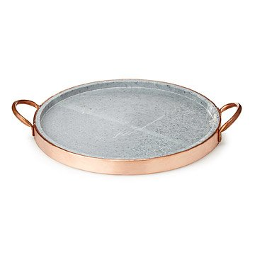 Soapstone Pizza Pan with Copper Handle