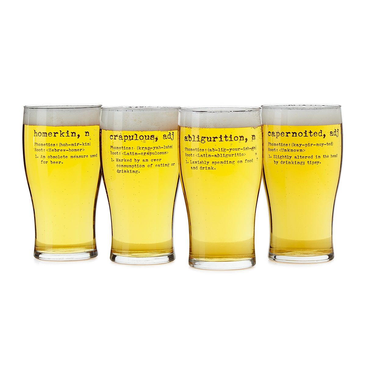 Life by Definition Beer Glasses - Set of 4