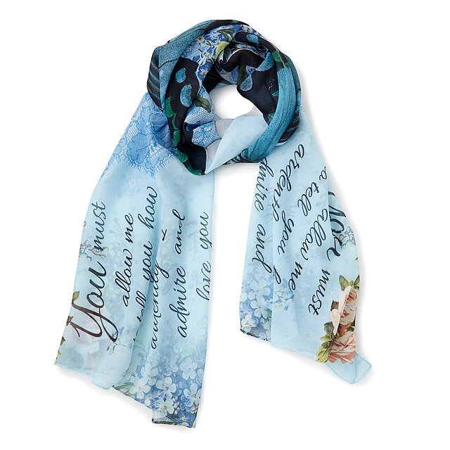 Pride and Prejudice Illustration Scarf