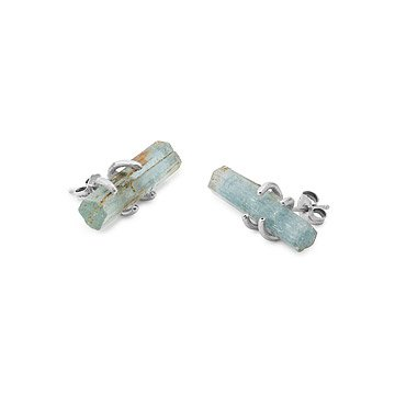 Rough Aquamarine Earrings