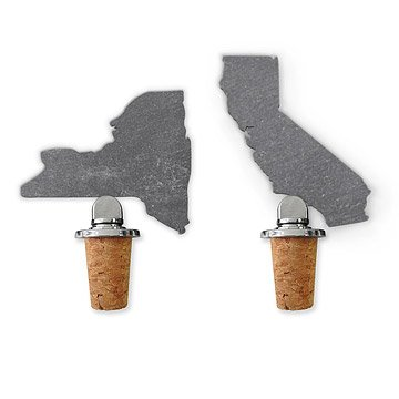 State Slate Bottle Stopper