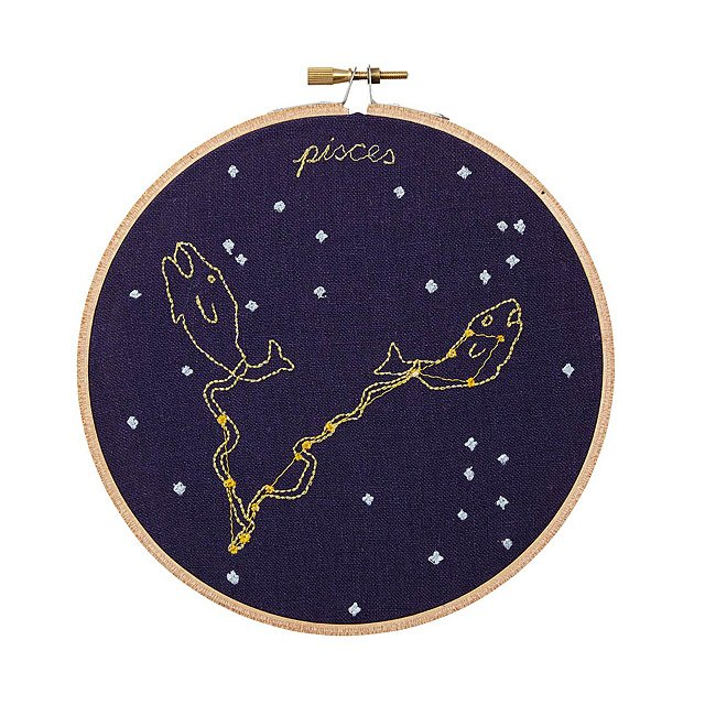 Zodiac Embroidery Hoop Art