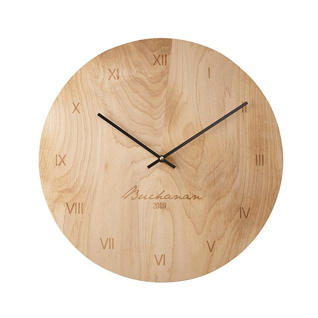 Personalized Maple Wall Clock