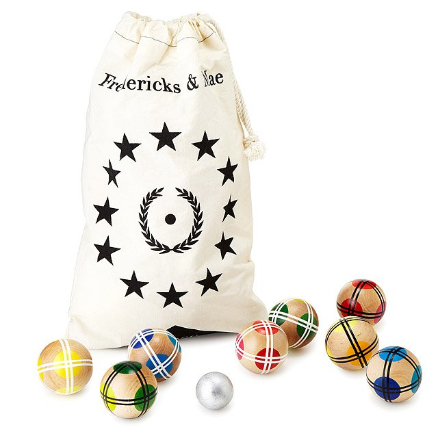Hand Painted Bocce Ball Set