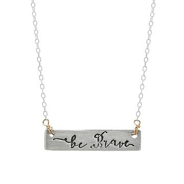 Be Brave Arrow Reversible Necklace
