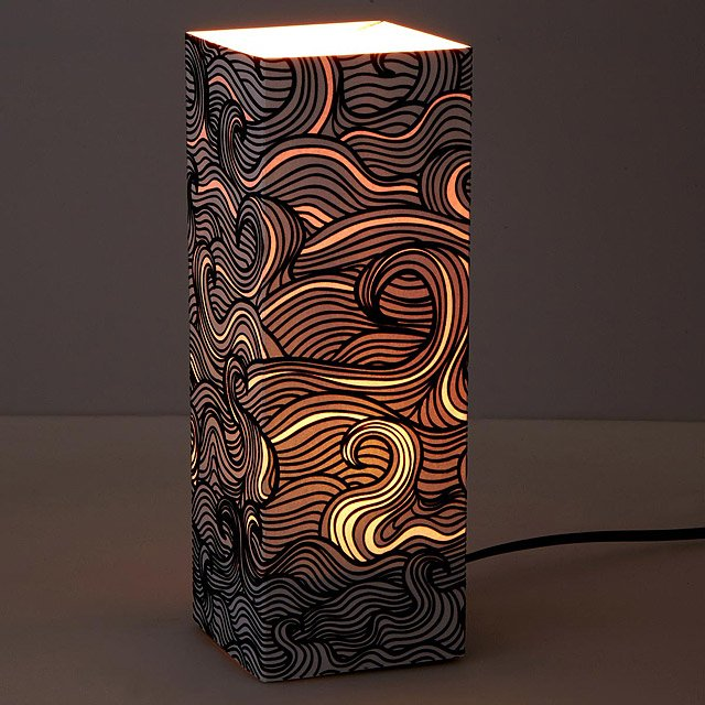 Glowing Wave Paper Lantern