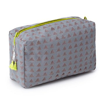 Block Printed Large Toiletry Bag