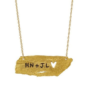Personalized Birch Bark Necklace