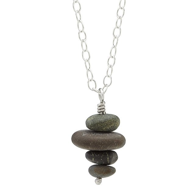 Pebble Stack Necklace