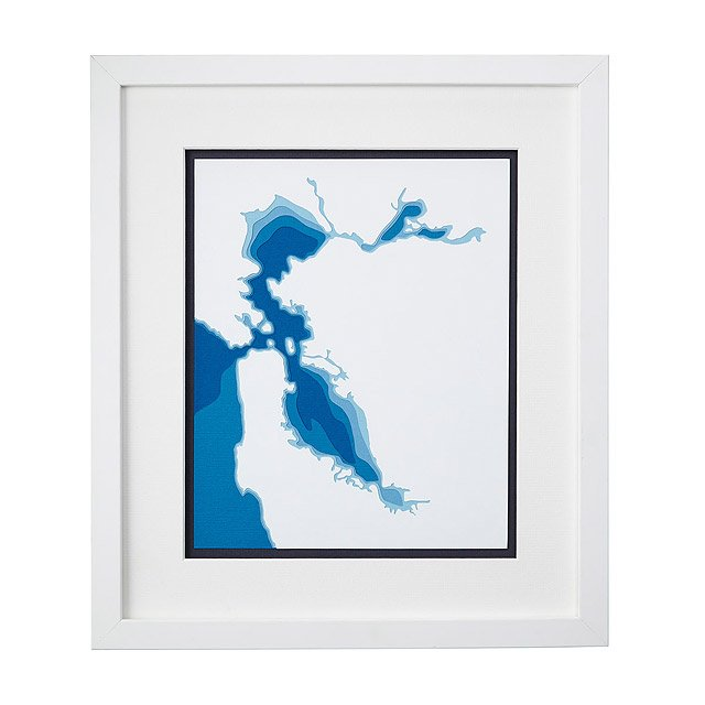 San Francisco Bay Papercut Art